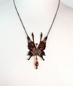 Monarch Fairy Wings Necklace