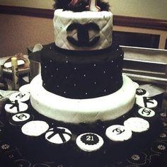 Chanel Inspired Birthday Cake