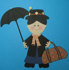 Mary Poppins Paper Doll Cricut Die Cut Scrapbook Embellishment Paper Piecing | eBay
