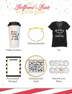 Girlfriends Guide to Great Gifts.