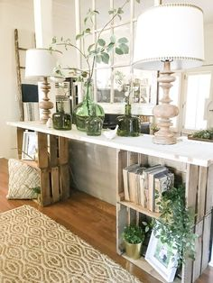 41 Stunning Spring Living Room Decor Ideas With Farmhouse Style - Spring is coming! That implies it& an ideal opportunity to revive your home with a lovely, breezy farmhouse feel. With another season seemingly withi. Farmhouse Side Table, Farmhouse Decor, Modern Farmhouse, Farmhouse Ideas, Farmhouse Style, Target Farmhouse, Farmhouse Interior, Cottage Farmhouse, Farmhouse Design