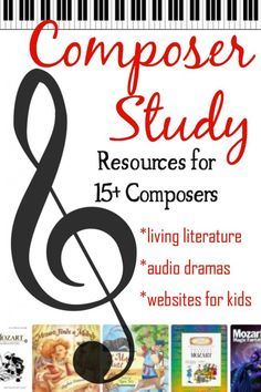 Composer study and music computer games! Adding composer study to your homeschool doesn't have to be difficult or take much time! This resource list helps you quickly pull together fast and simple lessons. Classical Education, Music Education, Health Education, Physical Education, Classical Music, Piano Lessons, Music Lessons, Singing Lessons, Piano Teaching