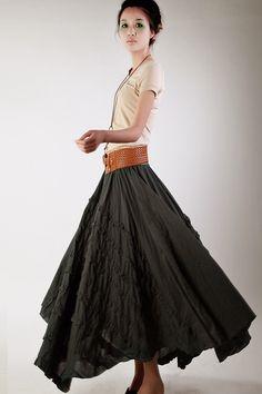 KL026S Madness/Womens Clothing Womens Skirt Casual Skirt Pleated Skirt Plus size Skirt Black Skirt Ankle Length Linen Long Handmade Skirt by KelansArtCouture on Etsy https://www.etsy.com/listing/203760534/kl026s-madnesswomens-clothing-womens