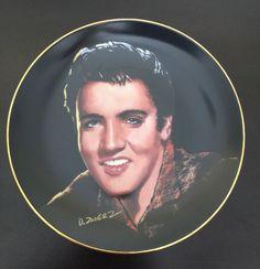 Elvis Presley Collector Plate Treat Me Nice Portrait Of King LTD No3733 Delph 92