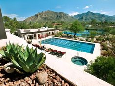 The pool at the Westward Look Resort offers sweeping views of the Santa Catalina Mountains and the Sonoran Desert.  Tucson, AZ