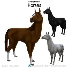 Die Sims, Sims Cc, Dragon Age, Brown Horse, Sims 4 Cc Finds, Sims 4 Mods, Cottage Living, Animation, Horses