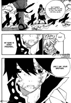 Fairy Tail 465 - Zeref telling Natsu taht he is his brother