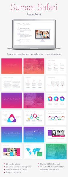 Sunset Safari PowerPoint Template #design #slides #presentation Download: http://graphicriver.net/item/sunset-safari-powerpoint-template/13170626?ref=ksioks