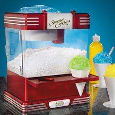 The Countertop Snow Cone Machine - Hammacher Schlemmer