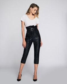 Anniston Leather Pant By Marissa Webb Latest Fashion Design, Skirt Pants, Celebrity Style, Leather Pants, Capri Pants, Clothes For Women, Model, How To Wear, Outfits