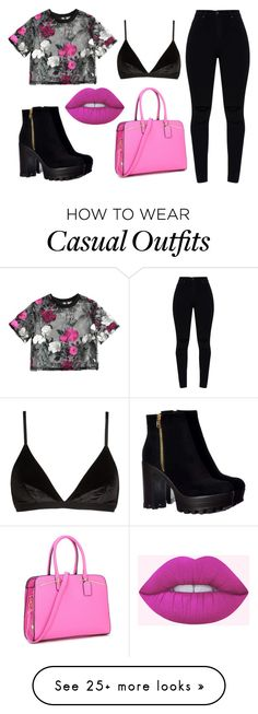 """Casual Pink and Black "" by agronstyles on Polyvore featuring Madewell"
