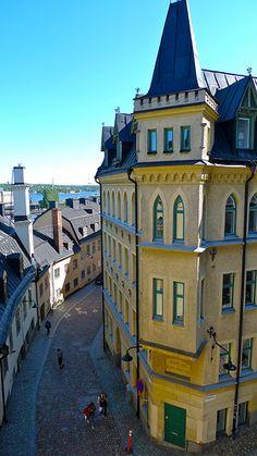Bellmansgatan 1, Stockholm.  Mikael Blomkvist's attic flat.  From the 'Millenium Trilogy'