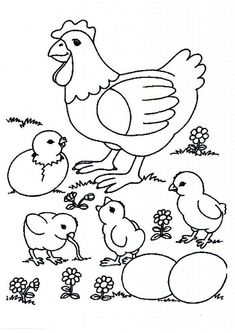 Alot Chicken Coloring Pages from Animal Coloring Pages category. Printable coloring pages for kids that you can print out and color. Have a look at our collection and print the coloring pages for free. Chicken Coloring Pages, Farm Animal Coloring Pages, Dinosaur Coloring Pages, Preschool Coloring Pages, Easter Coloring Pages, Free Printable Coloring Pages, Coloring Book Pages, Coloring Pages For Kids, Free Coloring