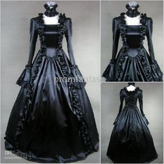 Wholesale - CustomMade 2013 Fall Vintage Ruffle Full Length Gothic Victorian Ball Gown Wedding Dresses $166.00