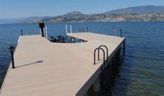 Outdoor plastic dock decking