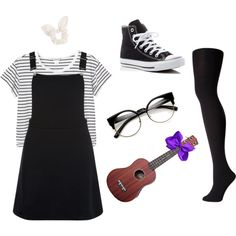 Dodie Clark Inspired Look by mikyla-louise on Polyvore featuring New Look, Monki, Falke, Converse, ZeroUV and Dorothy Perkins