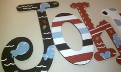 Hand Painted nursery letters pottery barn jackson by lkcolley