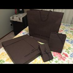 Louisvuitton Boxes and shopping bags Large,small Large shopping bag, Large gift box and small shopping bag with gift box Bags Travel Bags