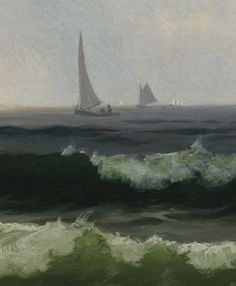 Vose Galleries - Seascape with Boats Offshore by Alfred Thompson Bricher