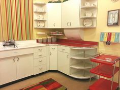 This photo about: Techniques for Kitchen Only the Pros Know, entitled as Paint Colors Retro Kitchen Ideas - also describes and labeled as: kitchen kitchen kitchen remodel, with resolution x Art Deco Kitchen, New Kitchen, Kitchen Decor, Kitchen Ideas, 1950s Kitchen, Vintage Kitchen, Diy Kitchen Cabinets, Kitchen Shelves, Metal Cabinets