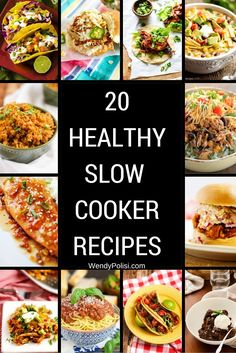 20 Healthy Slow Cooker Recipes #healthy #slowcooker