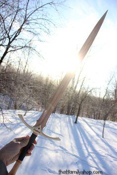 Glamdring épée bois réplique LOTR Seigneur de par ImagineNationShop