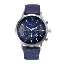 Luxury Brand North Men Quartz Watches Genuine Leather Waterproof Casual Wrist watches for Man Sport relojes Outdoor Clock(China (Mainland))