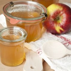 Apple Jelly with Earl Grey - Dille & Kamille Dessert Drinks, Desserts, Apple Jelly, Jam And Jelly, How To Make Jam, Chutney, What To Cook, Tasty Dishes, Postres