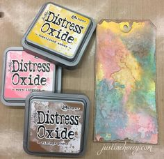 A first look at Distress Oxide Inks from Creativation in Phoenix!