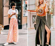 calça pantalona lurex Ideias Fashion, Diva, Skirts, Style, Natural Styles, Plus Size Women, Swag, Divas, Skirt