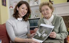 Hazel Gaynor and Christine Lynch (daughter of Frances Griffiths).