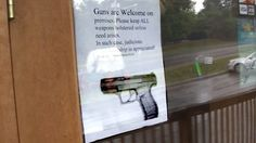 'Guns are Welcome' signs posted at Tennessee restaurant