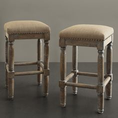 these would look good against a dark island.  Renate Linen Counter Stools (Set of 2) | Overstock™ Shopping - Great Deals on Bar Stools
