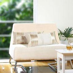 Plush beige cushion cover