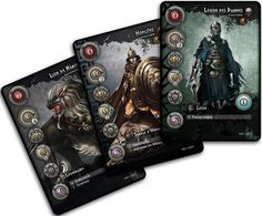 Cards from the Mythic Battles game.
