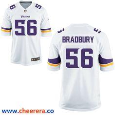 222ed0a53dbba Men's Minnesota Vikings #56 Garrett Bradbury White Road Stitched NFL Nike  Game Jersey