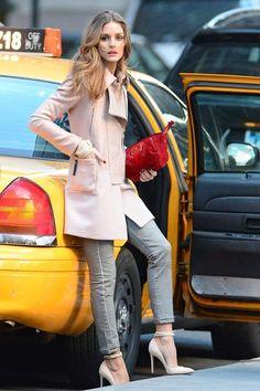 Celebrity Style I New York Street Style I Olivia Palermo I pastel winter coat