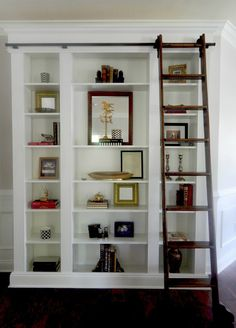 Find and save 34 ikea bookshelf bookcase hacks ideas on Decoratorist. See more about bookcase, bookshelf, ikea. Ikea Billy Hack, Ikea Billy Bookcase Hack, Built In Bookcase, Billy Bookcases, Ikea Shelf Hack, Ikea Furniture, Home Office Furniture, Furniture Makeover, Furniture Ideas