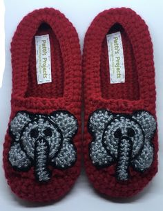 Embrace what makes you different with these adorable elephant slippers. Kids Slippers, Slippers For Girls, Lap Blanket, Yarn Sizes, Crochet Baby Shoes, Cute Designs, Color Combinations, Suede Leather, Elephant