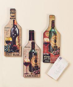 Wine Cork Board Set by Cypress Home #zulily #zulilyfinds