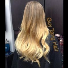 Golden blonde Balayage Ombre by #guytang