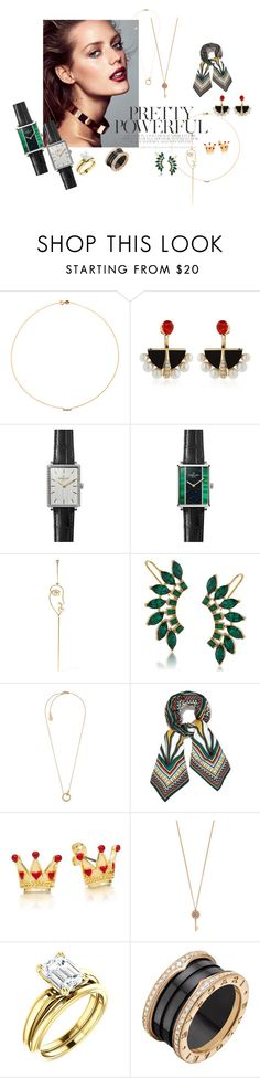 """""""Untitled #42"""" by vivichanchanchan on Polyvore featuring Sole Society, Lalique, Gomelsky, Sarah & Sebastian, Trina Turk, Michael Kors, Tory Burch, Aéropostale and Bulgari"""