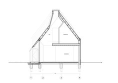House W in Duiven by studio PROTOTYPE - cross-section