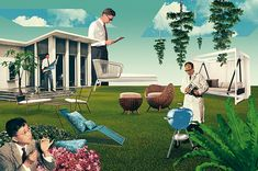 Architectural Digest - Julien Pacaud • Illustration • Perpendicular Dreams