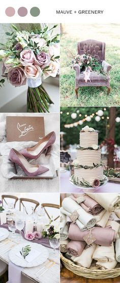 Wedding Trends mauve and greenery elegant wedding color ideas for 2018 Elegant Wedding Colors, Dusty Rose Wedding, Purple Wedding, Trendy Wedding, Perfect Wedding, Our Wedding, Dream Wedding, Summer Wedding, May Wedding Colors