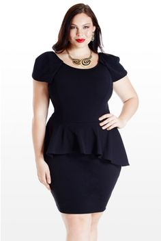 We've gathered our favorite ideas for Plus Size Peplum Dress Picture Collection Dressed Up Girl, Explore our list of popular images of Plus Size Peplum Dress Picture Collection Dressed Up Girl. Plus Size Black Dresses, Plus Size Peplum, Plus Size Outfits, Curvy Outfits, Peplum Dresses With Sleeves, Dress Up, Tight Dresses, Prom Dress, Moda Plus Size