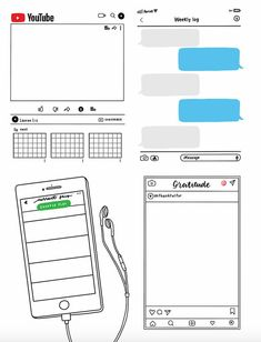 Looking for printable layouts for your bullet journal? These letter-size printable one-page weekly bullet journal layouts come in 4 unique designs! Bullet Journal Banner, Bullet Journal Writing, Bullet Journal Aesthetic, Bullet Journal Ideas Pages, Bullet Journal Spread, My Journal, Bullet Journal Inspiration, To Do Planner, Journal Stickers
