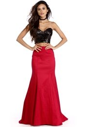 Alicia Red Two Piece Dress