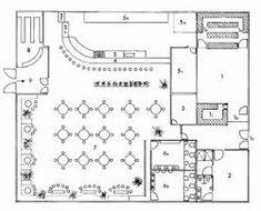 Resultado de imagen para planos de restaurantes pequeños con medidas