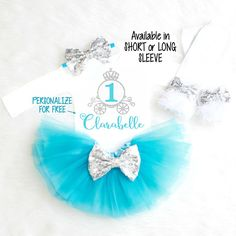 Cinderella Birthday Outfit First Birthday Outfit Girl 1st